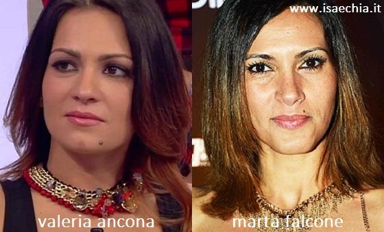 Somiglianza tra Valeria Ancona e Marta Falcone
