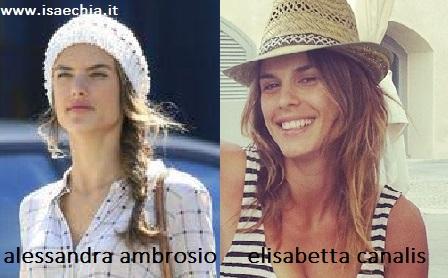 Somiglianza tra Alessandra Ambrosio ed Elisabetta Canalis