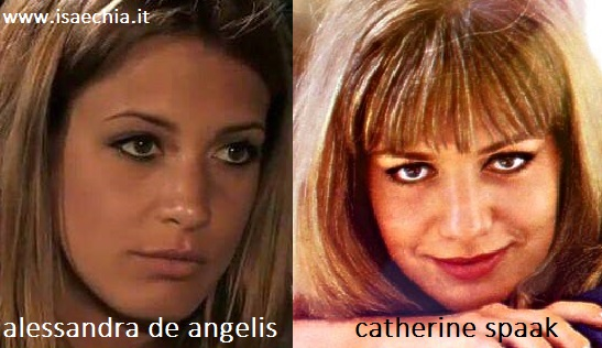 Somiglianza tra Alessandra De Angelis e Catherine Spaak