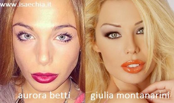 Somiglianza tra Aurora Betti e Giulia Montanarini