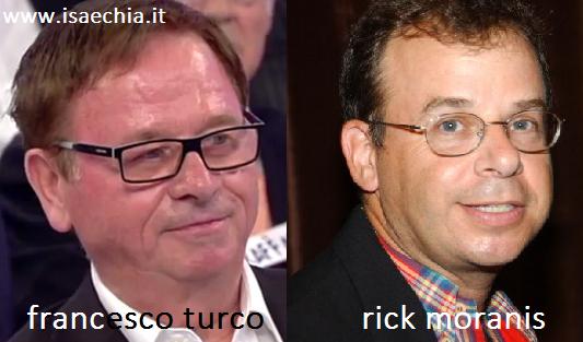 Somiglianza tra Francesco Turco e Rick Moranis
