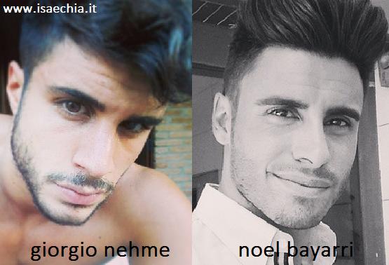 Somiglianza tra Giorgio Nehme e Noel Bayarri