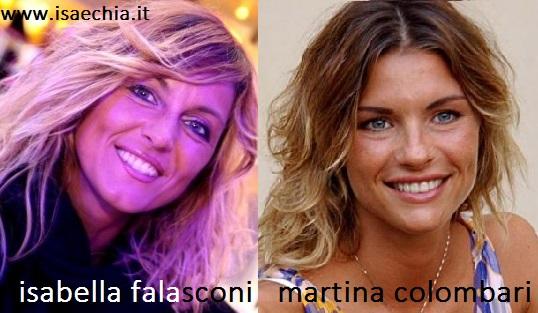 Somiglianza tra Isabella Falasconi e Martina Colombari