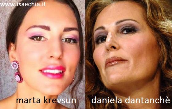 Somiglianza tra Marta Krevsun e Daniela Santanchè