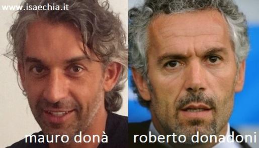 Somiglianza tra Mauro Donà e Roberto Donadoni