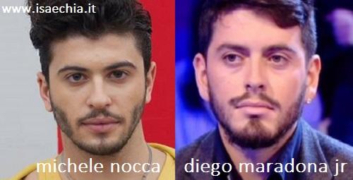 Somiglianza tra Michele Nocca e Diego Maradona Junior