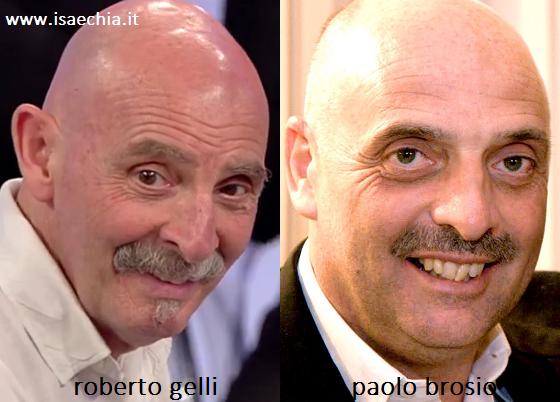 Somiglianza tra Roberto Gelli e Paolo Brosio