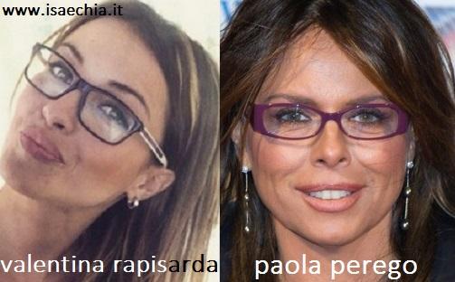 Somiglianza tra Valentina Rapisarda e Paola Perego
