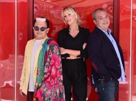 Alessia Marcuzzi, Cristiano Malgioglio e Claudio Amendola
