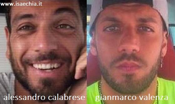 Somiglianza tra Alessandro Calabrese e Gianmarco Valenza