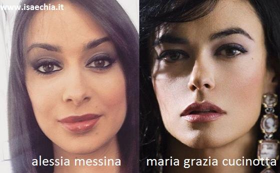 Somiglianza tra Alessia Messina e Maria Grazia Cucinotta