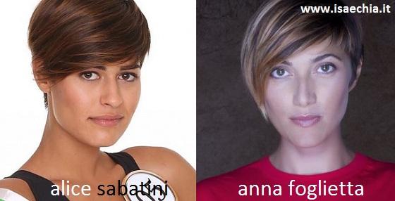 Somiglianza tra Alice Sabatini e Anna Foglietta