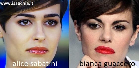 Somiglianza tra Alice Sabatini e Bianca Guaccero