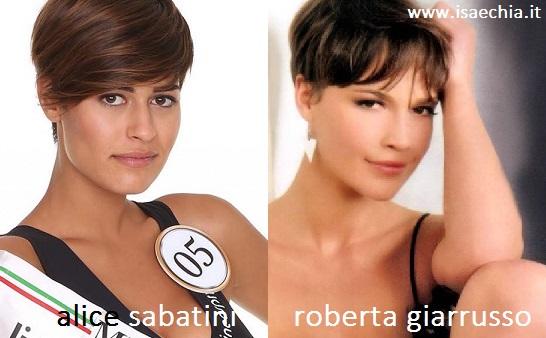 Somiglianza tra Alice Sabatini e Roberta Giarrusso