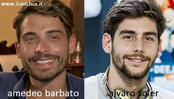 Somiglianza tra Amedeo Barbato e Alvaro Soler