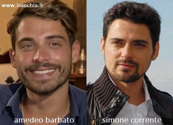Somiglianza tra Amedeo Barbato e Simone Corrente