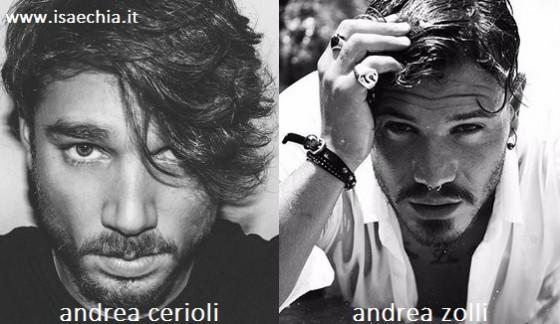 Somiglianza tra Andrea Cerioli e Andrea Zolli