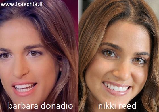 Somiglianza tra Barbara Donadio e Nikki Reed