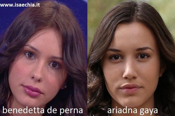 Somiglianza tra Bendetta De Perna e Ariadna Gaya