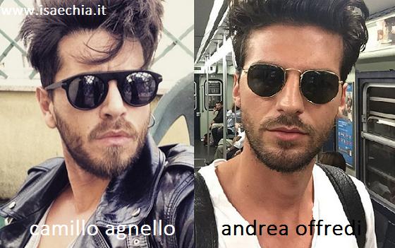 Somiglianza tra Camillo Agnello e Andrea Offredi
