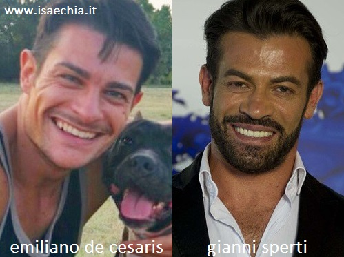 Somiglianza tra Emiliano De Cesaris e Gianni Sperti