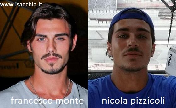 Somiglianza tra Francesco Monte e Nicolla Pizzicoli