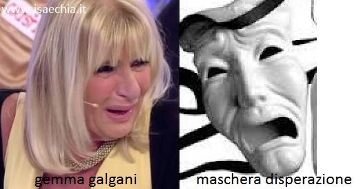 Somiglianza tra Gemma Galgani e la maschera della disperazione