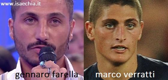 Somiglianza tra Gennaro Farella e Marco Verratti