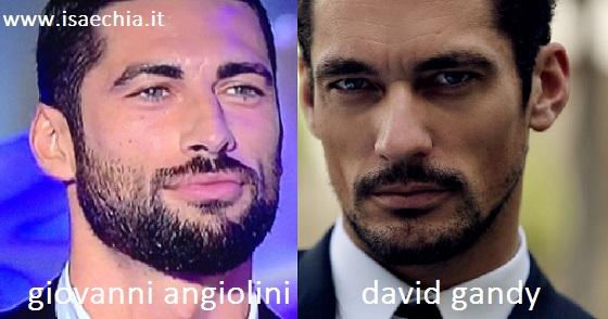 Somiglianza tra Giovanni Angiolini e David Gandy