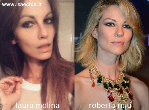 Somiglianza tra Laura Molina e Roberta Ruiu