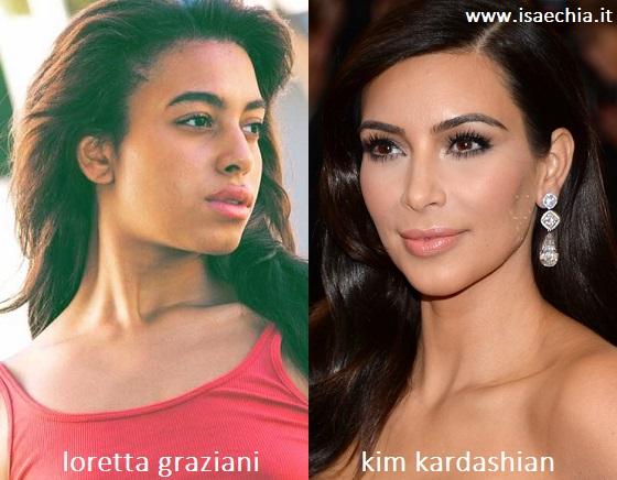 Somiglianza tra Loretta Graziani e Kim Kardashian