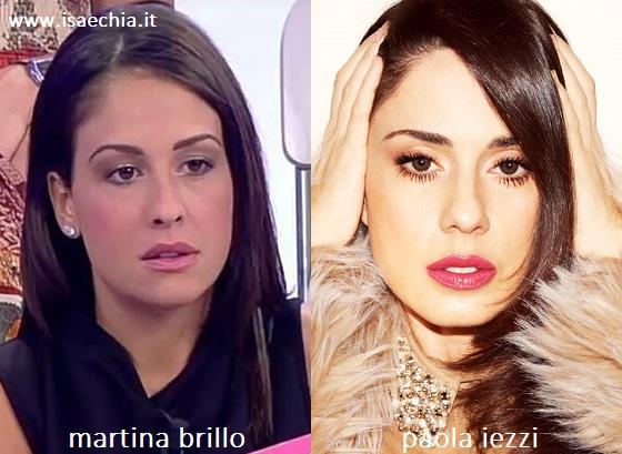Somiglianza tra Martina Brillo e Paola Iezzi