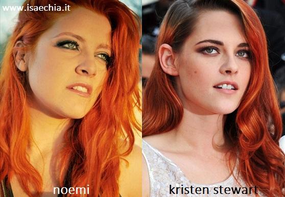 Somiglianza tra Noemi e Kristen Stewart