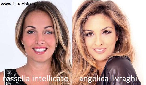 Somiglianza tra Rossella Intellicato e Angelica Livraghi