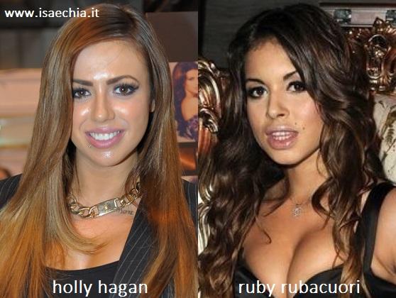 Somiglianza tra Ruby Rubacuori e Holly Hagan