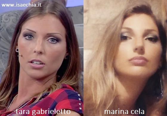 Somiglianza tra Tara Gabrieletto e Marina Cela