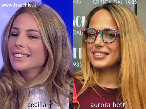 Somiglianza tra Cecilia e Aurora Betti