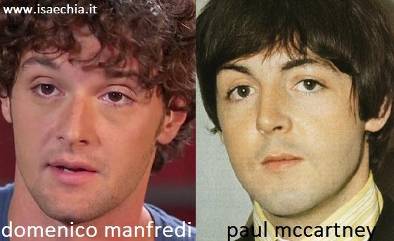 Somiglianza tra Domenico Manfredi e Paul McCartney