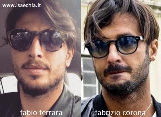 Somiglianza tra Fabio Ferrara e Fabrizio Corona