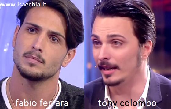 Somiglianza tra Fabio Ferrara e Tony Colombo