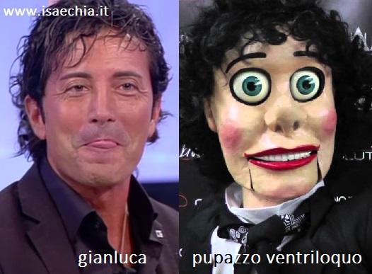 Somiglianza tra Gianluca e un pupazzo ventriloquo