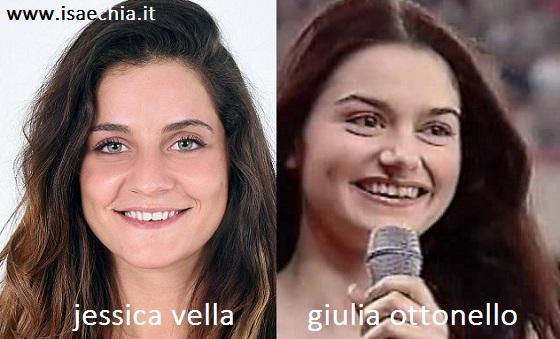 Somiglianza tra Jessica Vella e Giulia Ottonello