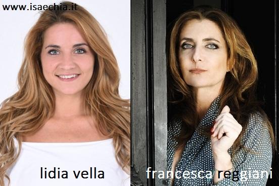 Somiglianza tra Lidia Vella e Francesca Reggiani
