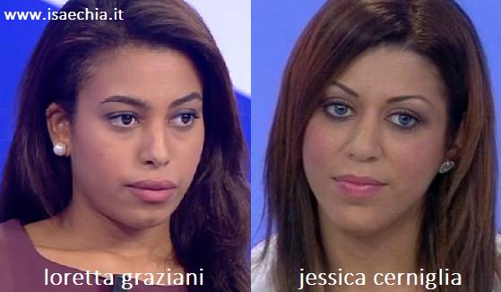 Somiglianza tra Loretta Graziani e Jessica Cerniglia