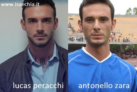 Somiglianza tra Lucas Peracchi e Antonello Zara