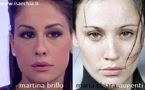 Somiglianza tra Martina Brillo e Maria Chiara Augenti