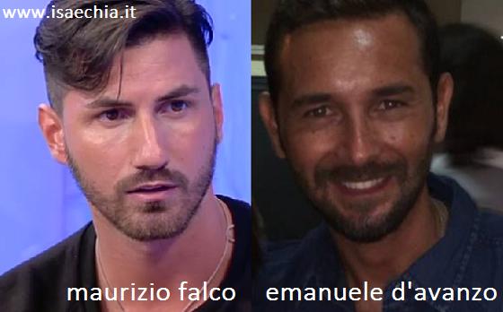 Somiglianza tra Maurizio Falco e Emanuele D'Avanzo