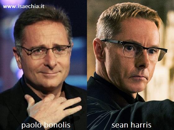 Somiglianza tra Paolo Bonolis e Sean Harris