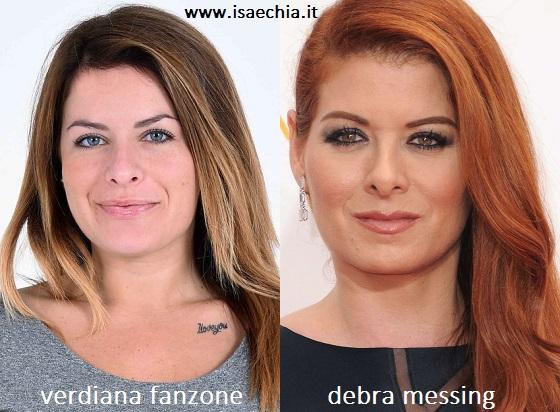 Somiglianza tra Verdiana Fanzone e Debra Messing