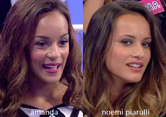 Somiglianza tra Amanda e Noemi Piarulli